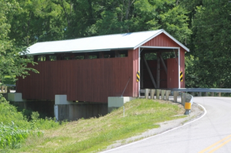This is our local Martinsville Road covered bridge located 1/4 mile from Peaceful Acres Lavender Farm.